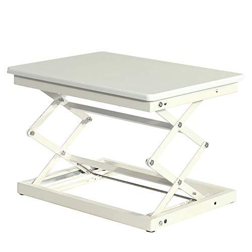 Arbeitsstation, verstellbar, für Laptops mit einer Höhe von 19,67 Zoll / 14,57 Zoll W W Arbeitsstation, höhenverstellbar, kompakter Stehtisch (Größe: Free Size; Farbe: Weiß)