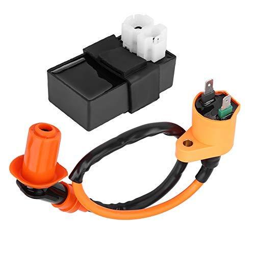 Fydun Bobina de encendido DC CDI Box Kit de bobina de encendido para SYM Vento Roller GY6 Motor 125 CC 150 CC