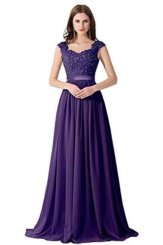 MisShow Damen Ballkleider lang Prinzessin Damen Abendkleid Abiballkleid Brantjungfernkleider...