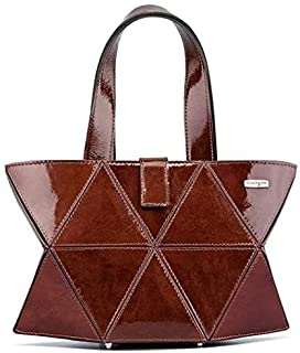 Kaizer KI1808SBRON Leather Shoulder Bag for Women - Bronze