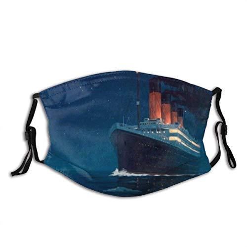 liukaidsfs Gesichtsschutz Titanic 3D Nasenschutz Wiederverwendbar Waschbar Gesichts Schals Mit 2 Filtern