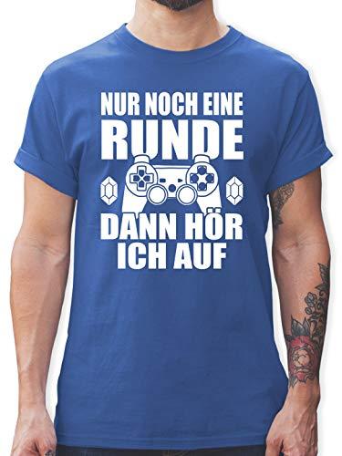 Nerds & Geeks - Nur noch eine Runde - XXL - Royalblau - Geek t Shirt - L190 - Tshirt Herren und Männer T-Shirts
