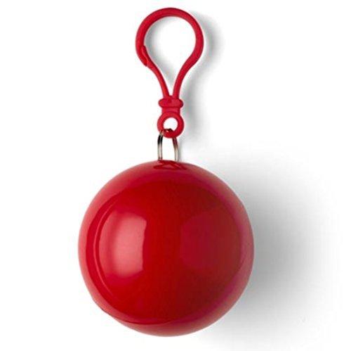 Notfall-Poncho Universum, idial für Festivals, klein und schnell verpackt, Regencape, Regenpocho, viele Farben Red