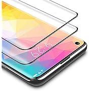 BANNIO Vetro Temperato per Xiaomi Mi 10/Xiaomi Mi 10 Pro,2 Pezzi Full Screen Pellicola Protettiva per Xiaomi Mi 10/Xiaomi Mi 10 Pro,Copertura Totale Protezione Schermo,Nessuna bolla,Anti-impronte,Nero