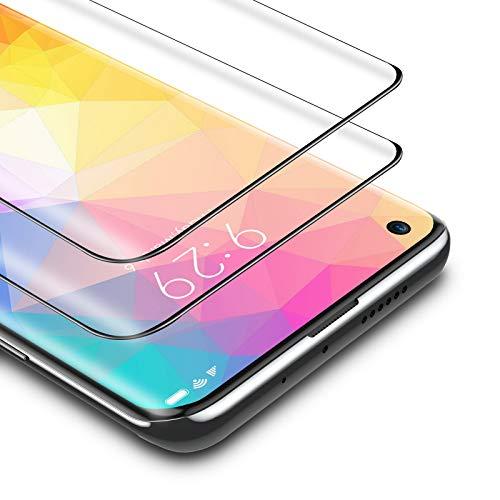 BANNIO Protector de Pantalla Xiaomi mi 10/Xiaomi mi 10 Pro,2 Unidades Cobertura Completa Cristal Templado para Xiaomi mi 10/Xiaomi mi 10 Pro con Kit de Instalación,9H Dureza,Sin Burbujas,Negro