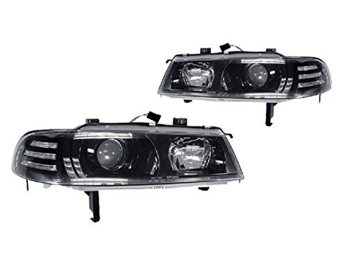 DEPO Black Projector Headlights w/Clear Corner Compatible and Fits For 1992-1996 Honda Prelude - Compatible and Fits for Honda