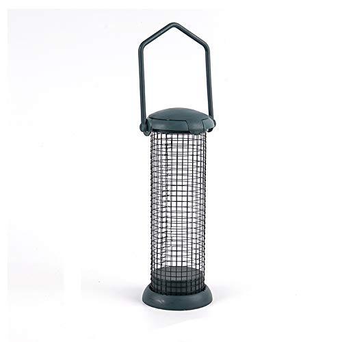 Bird Feeder Hanging Wild Bird Seed Feeder für Mix Seed Blends, Sonnenblumenherz, Vogelbad, Standard Gefüllter Nuss Feeder, Grün