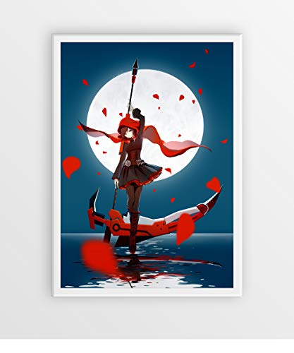 RWBY weapon POSTER/Ruby Rose RWBY figure poster