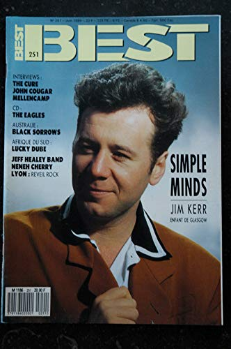 BEST 251 JUIN 1989 SIMPLE MINDS The Cure J COUGAR MELLENCAMP The EAGLES Black Sorrows Lucky Dube Neneh Cherry