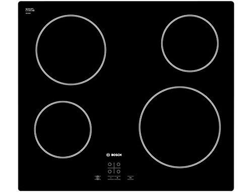 Bosch PKE611D17E hobs - Placa (Integrado, Cerámico, Vidrio y cerámica, Sensor, 220-240V, 50/60 Hz) Negro