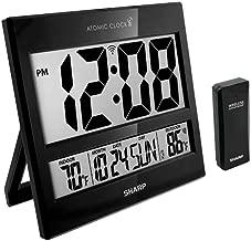 Sharp Atomic Clock - Atomic Accuracy - Never Needs Setting! -New Gloss Black Style - Jumbo 3