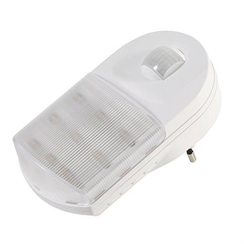 Asixxsix Luz de Noche, Luz de Noche infrarroja, Luz LED para el hogar Enchufe de la UE Enchufe de la UE Enchufe de la UE Luz de Noche LED para Porche Pasillo Lámpara de luz de(Warm Light)