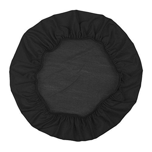 Homyl Weiche Stuhlhussen Stretch Universal Stuhlüberzug Stuhlbezug aus Polyester, Farben Auswählbar - Schwarz
