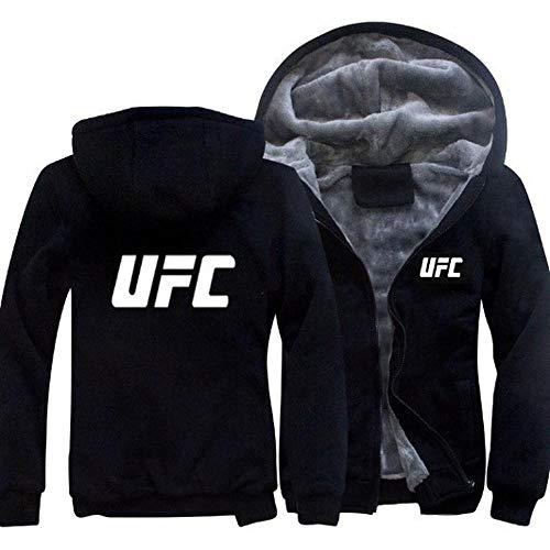 UFC Imprimer Sweat Hoodies Casual Hiver Capuche Chaud Zip Ja