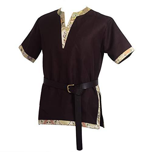 BLESSUME Medieval Vikingo Sayo con un Cuero de PU Cinturn Disfraz