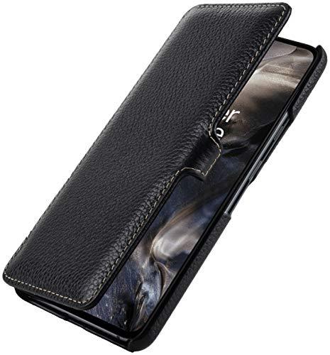 StilGut Book Hülle entwickelt für OnePlus Nord Hülle aus Leder mit Clip-Verschluss, Lederhülle, Klapphülle, Handyhülle - Schwarz