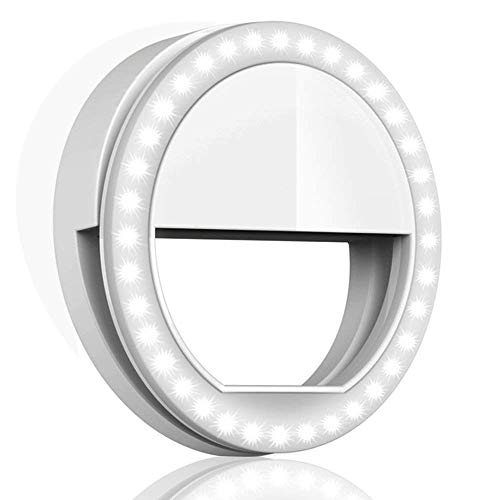 QIAYA Selfie Ring Light for Phone Camera Photography Video, BatteryPowered Clip White, Medium...