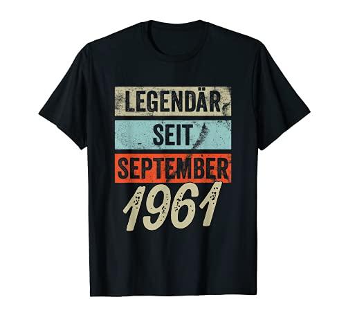 60. Geburtstag Mann 60 Jahre Legendär seit September 1961 T-Shirt