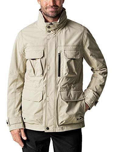 Klepper Herren 11 Taschen Touringjacke einfarbig Beige 56
