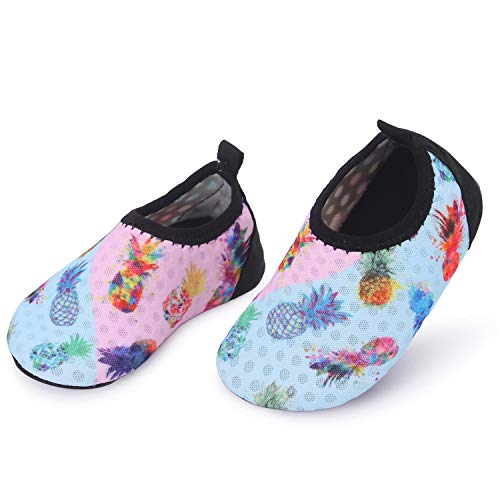 L-RUN Baby Boy Girls Swim Shoes Summer Beach Shoes Pineapple 18-24 Months=EU21-22