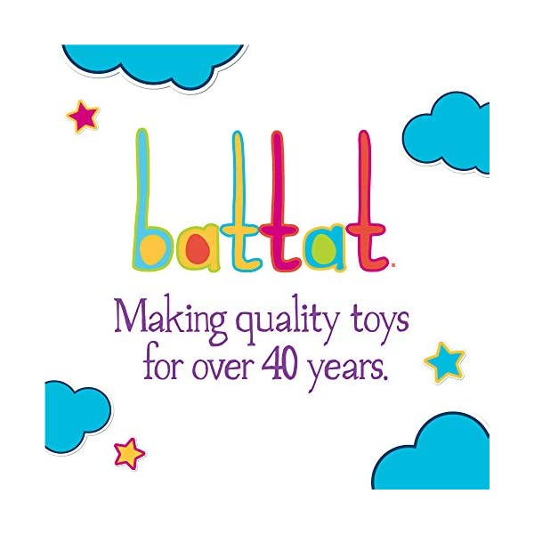 Battat – Pound & Roll – Baby Activity Toy Station with 1 Toy Hammer and 4 Balls for Kids 12 Months + (7-pcs)