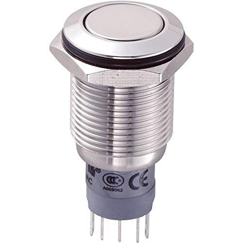 Botón pulsador antivandalismo LAS2GQF-11/S/P 701954 250 V/AC 3 A 1 x on/on con recordatorio de 1 Unidad