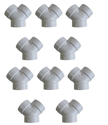 ZVac 10 Qty - Central Vacuum Fittings Short TY Y 3-Way WYE for All Central Vacuum Systems Replacement Compatible for Nutone Beam Vacuflo Vacumaid & More!