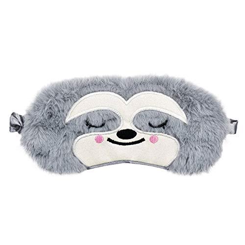 Ulife Mall Nette 3D Flauschige Tier Augenmaske für Schlaf Reisen Atmungsaktiv Eyeshade Augenabdeckung Augenblende Schlafmaske Kinder Erwachsene - Faultier