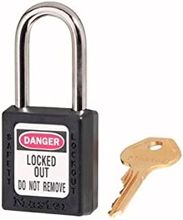 Master Lock 410BLK Safety Series Padlock, High Visibility Aluminum body, 2-inch, Black