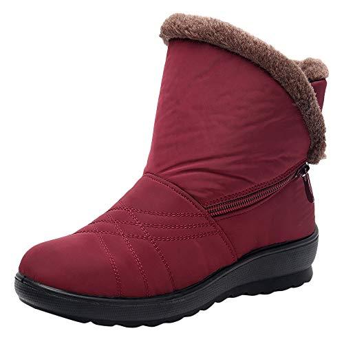 Botas de Nieve Botines Mujer, LANSKIRT Mujer Invierno Impermeable Short Botas de Nieve Calzado Caliente Zapatos Botas de Invierno Botas de Moda