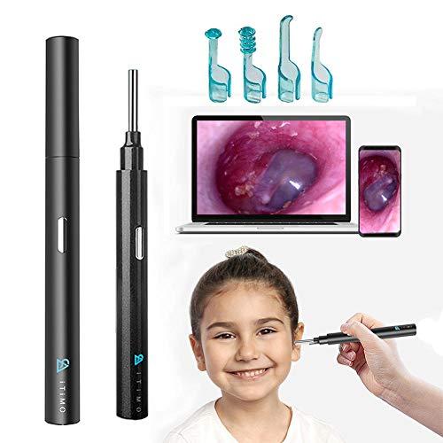 HD Spade Ear Cleaner, Kit di rimozione della cera  otoroscopio del wifi, kit di rimozione della cera  orecchio HD 1080P, orecchio del kit di rimozione  orecchio HD
