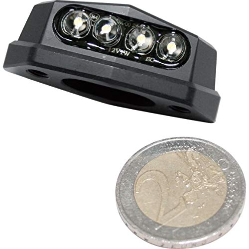 ShinYo LED Alu Nummernschildbeleuchtung Quadro schwarz