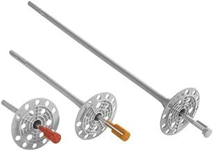 Isolatiehouder 8 x 200 mm (200 st.) Isolatiepluggen met stalen spijker, geperforeerde plaatpluggen voor WDVS, VWS, EPS