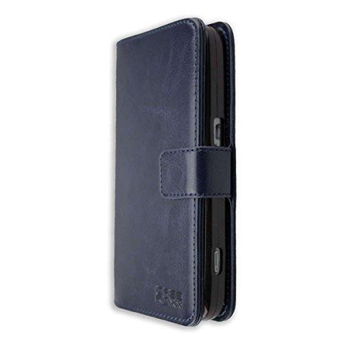 caseroxx Tasche für Doro 8030/8031 Bookstyle-Hülle in blau Cover Buch