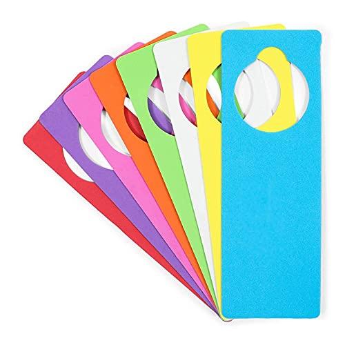 EVA Foam Door Hangers for DIY Crafts, 8 Colors (3.25 x 9.5 Inches, 24 Pack)