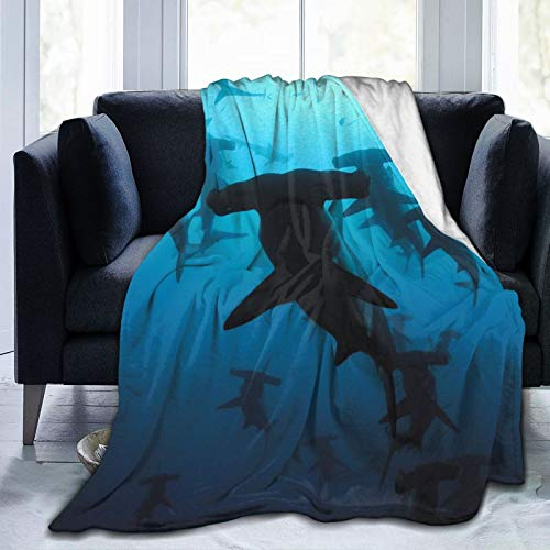 ZJHFSGMY Hammerhead Sharks Blanket Ultra Soft and Warm Blanket Heat Insulation Breathable Nap Quilt for Sofa Home Office Camping Seasons Universal Blankets