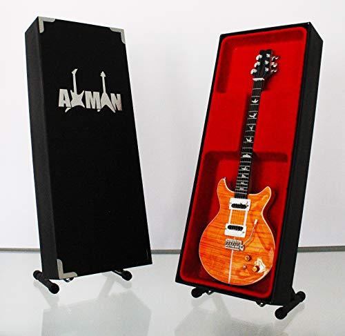 Miniatura Guitarra Replica: Carlos Santana PRS SE Santana naranja–modelo MINI Rock Memorabilia réplica de madera miniatura guitarra & Libre Pantalla Soporte (vendedor de Reino Unido)