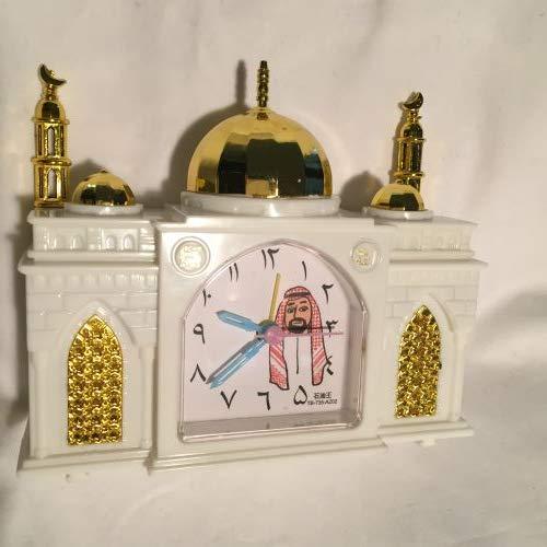 AZAN CLOCK 石油王モスク型アザーン目覚まし時計(メッカAZAN3分間付き) (ホワイト)