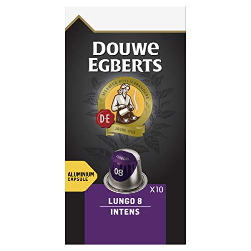 Douwe Egberts Lungo Intens Koffiecups, 10 x 10 Cups