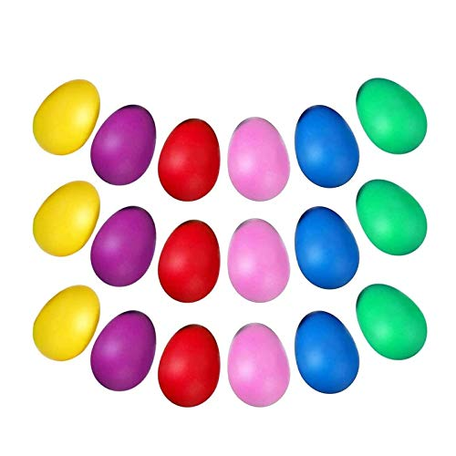 JZZJ 24 Piezas de Huevos de Maracas Juego de Shaker de Huevo de Plástico Musical para Materiales de Fiesta de Niños Juguetes Musicales, 6 Colores