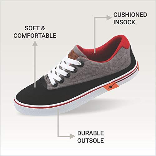 Product Image 7: Sparx Men's Black Grey Sneakers