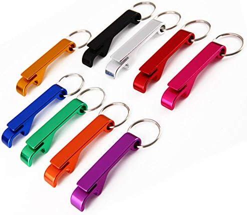 Premium Bartender Openers Set of 9 PCS Ergonomic Multicolored Keychain Aluminum Keyring Bottle product image