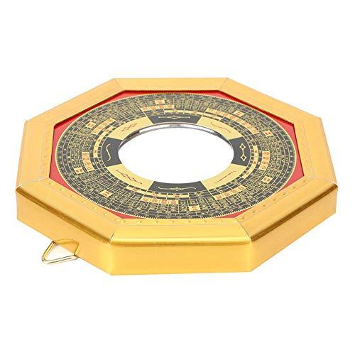 Cuque Regalo de Julio Espejo Bagua de Madera Feng Shui, Espejo Convexo de Bronce Espejo, Espejo Convexo de los espíritus malignos Espejo Bagua para la Cultura(13.5cm concave Mirror)