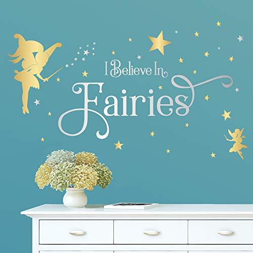 ufengke Pegatinas de Pared Hadas Frases I Believe In Fairies Vinilos Adhesivos...