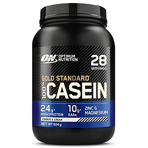 Optimum Nutrition 100% Gold Standard Casein, Proteine di Caseina a Lento Rilascio con Glutammina, Aminoacidi, Zinco e Magnesio, Cookies Cream, 28 Porzioni, 0.92 kg, il Packaging Potrebbe Variare