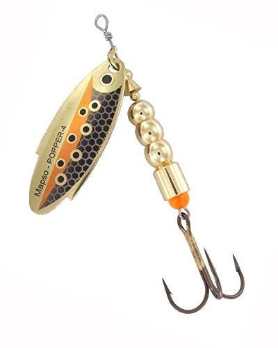 MAPSO - 5 Spinners de pesca POPPER-3 10 g