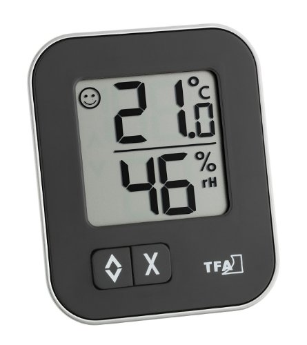 Black TFA-Dostmann 30.3060.01 Wireless thermometer-Hygrometer Temperature Home