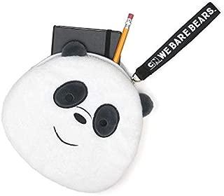 GUND We Bare Bears Panda Deluxe Zipper Pouch, Plush Stuffed Coin Purse, 8