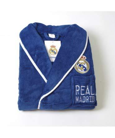 10XDIEZ Bata Real Madrid 307 Azul Royal - Medidas Albornoces/Batas Adulto -...
