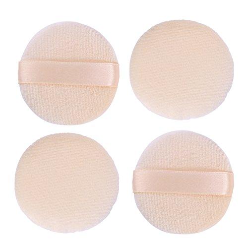 Lurrose 4pcs Poudre De Maquillage Souffle Professionnel Doux Ronde Cosmétique Lâche Poudre Éponge Outil De Maquillage (6CM)